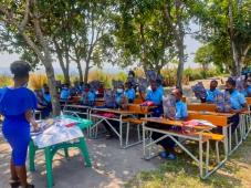 A primeira pedra foi lançada: estamos a iniciar a construção de mais 4 escolas em Moçambique!